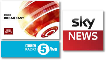 Kingsmaid appear on BBC Breakfast, Radio 5 and Sky News