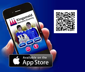 Download the Kingsmaid Domestic Cleaning App